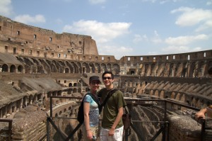 Ted and Pamela in the Colosseum