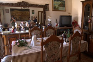 Dining Room of old Family House in Montagnareale