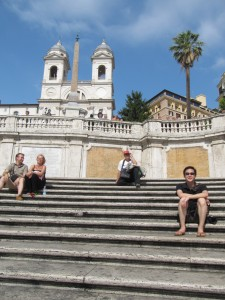 Ted on the Spanish Steps