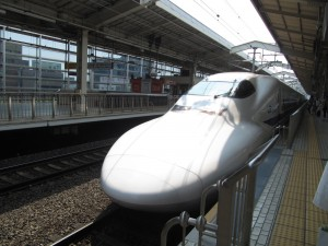 Arrival of the Shinkansen